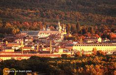 Real Sitio de San Ildefonso - La Granja (Segovia). Al fondo el palacio.