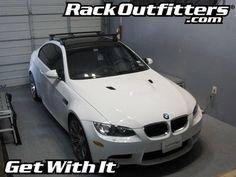 BMW M3 3 Series Coupe Thule Rapid Podium BLACK AeroBlade Base Roof Rack