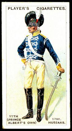Cigarette Card - 11th Hussars, 1799