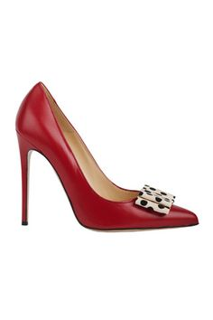 Bionda Castana Red Stiletto Heel Pumps with Bow Fall 2014 #Shoes #Heels