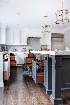 White Inset Cabinets For A Kitchen Island In New Jersey