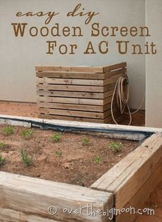 DIY Wooden Screen to cover the AC Unit! GENIUS!