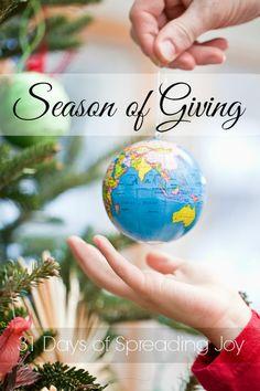 a season of giving 31 days of spreading joy