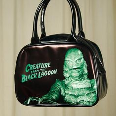 The Creature Feature Handbag by Rock Rebel is officially licensed by Universal Pictures. This black vinyl handbag has the Creature from the Black Lagoon.