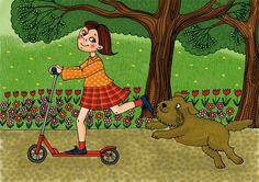 Rolleres lány