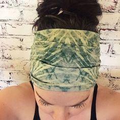 Extra Wide Yoga Headband Tie Dye Emerald by BohemianGypsyJane Yoga Headband, Headbands, Thing 1, Yoga Fashion, Lemon Lime, Tie Backs, Emerald Green, Eco Friendly, Tie Dye