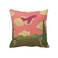 Let\'s Fly Away Throw Pillows by Janet Antepara @ Zazzle.com
