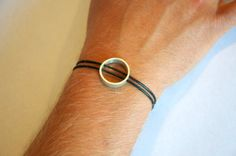 Items similar to Handcrafted Sterling silver bracelet on black leather chord for men and women on Etsy Copper Jewelry, Unique Jewelry, Sterling Silver Bracelets, Ireland, Jewellery, Handmade Gifts, Leather, Etsy, Hand Made Gifts