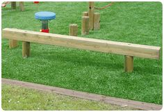 And good for goats too >> Childrens Playground Balance Beam | Wooden | Treated Timber | Anti Slip | Low Level | Suppliers UK