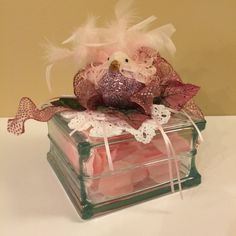 Victorian Style Decorated Glass Block Night Light by SoozieQCrafts on Etsy