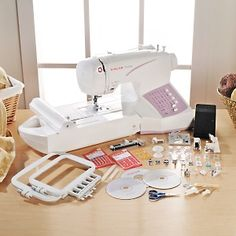 Singer® SES1000 All-in-One Sew, Embroider and Serge Machine = Way Cool!  #HSN #HouseBeautiful