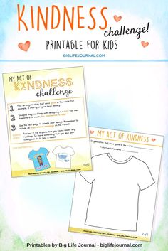 Kindness Challenge for Children (A Fun Printable Activity) – Big Life Journal
