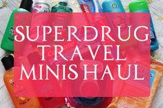 Tania Michele: Superdrug Travel Minis Haul