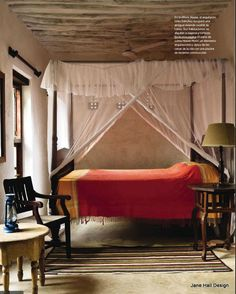 Rustic Style bedroom with Persimmon Orange bedding