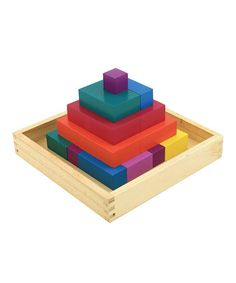 Discounted #Montessori toy, 50% off!!! Loving this Enigmanac Wood Block Puzzle on #zulily! #zulilyfinds. creative play for toddlers, educational toy.