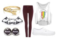 """""""Untitled #72"""" by mad-hatter-gone-insane ❤ liked on Polyvore featuring True Religion, Bling Jewelry and Vans"""