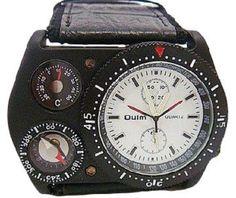 Oulm腕時計/白盤 温度計 機能/コンパス 付き ★ カジュアル メンズ レディース ウォッチ スポーツ (ホワイトフェイス)