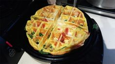 Making frittatas is usually a two-step process: Cook on the stove, then finish in the oven or broiler. Skip a step and make a unique frittata waffle in your versatile waffle iron.