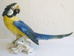 Antique Karl Ens German Porcelain Parrot Exotic Bird Sculpture Figurine 1 | eBay