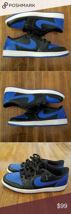 "AIR JORDAN 1 RETRO LOW OG ""ROYAL"" Air Jordan 1 Retro Low OG in the highly coveted Royal colorway. Worn 3 times, no heel drag, 9.5/10 condition. Jordan Shoes Sneakers"