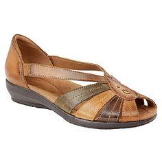Thom McAn- -Women s Mallory Multi Wide Width Casual Shoe Flat Sandals b484015070