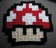 Pixelated Mushroom: Pixelated Mushroom Rug!