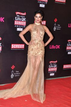 Indian Actor Sonal Chauhan at LifeOK Screen Awards (Jan) 2014
