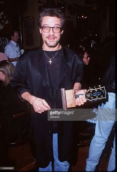 Eddie Van Halen during The 1996 Gibson Guitar Awards at Hard Rock Cafe in Los Angeles, California, United States.
