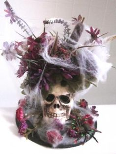 Spooky Halloween Floral Arrangement Decoration - One of a Kind by Kittenmade for $18.75