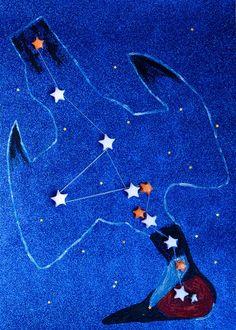 Escultura mural Constelación de la grulla  Obra de la exposición Mil grullas para la PAZ