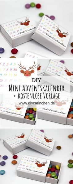 DIY Match Advent Calendar with Smarties + Instructions: DIY, Crafting, Freebie, Free Printable, Free Last Minute Christmas Gifts, Christmas Time, Christmas Cards, Christmas Decorations, Xmas, Advent Calendar Gifts, Christmas Calendar, Advent Box, Quick Crafts