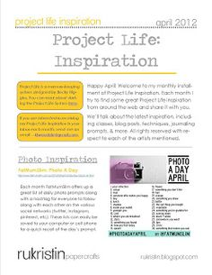 Project Life Inspiration | April Newsletter