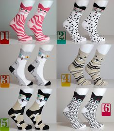 Kitty Socks Cat Socks Colorful Dotted Animal Lover Pussycat Striped Love Socks Girls Socks Women Socks Funny Sock Animal Socks Cute Fun Sock USD) by echerpe Girls Socks, Women Socks, Custom Tote Bags, Photo Bag, Sock Animals, Funny Socks, Handmade Bags, Handmade Products, Baby Products
