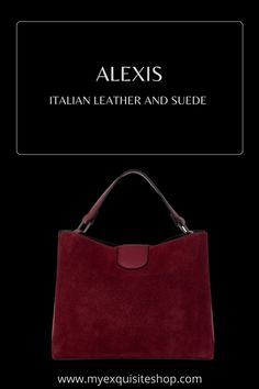 Suede Handbags, You Bag, Italian Leather, Suede Leather, Compact, Colours, Shoulder, Stylish, Top