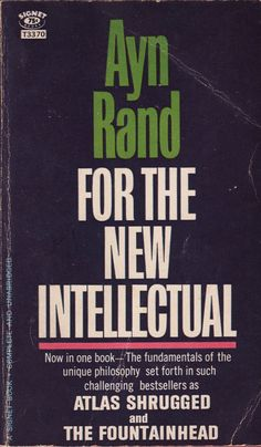 For the New Intellectual  Ayn Rand by sometimesagreatnovel on Etsy, $2.75