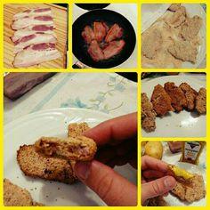 Bacon empanado.