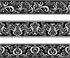 Lace tattoo - might be neat for a garter band Design Page, Art Design, Graphic Design Art, Quilt Design, Cuff Tattoo, Arm Band Tattoo, Decoupage, Leg Tattoos, Body Art Tattoos