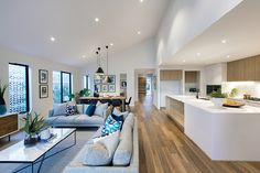 Furnishing open plan living | Modern open plan floorplans | ID Studio, interior design by Porter Davis at World of Style