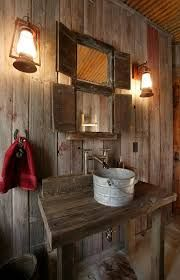 Image result for small rustic powder room
