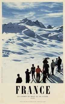 Vintage Ski Poster - M. Carabin (Photo)   VAL D'ISERE (France) 1957