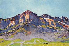 The Dents Blanches in Champéry at the morning sun, 1916 Ferdinand Hodler