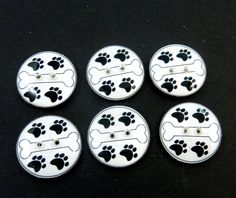 6 Blue Winged Dragon Buttons for Sewing.