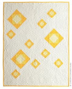 Yellow bloom quilt by CarsonToo at Etsy