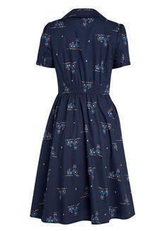 Pepper Bicycle Print Shirt Dress