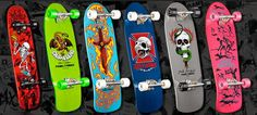 Old school skateboards