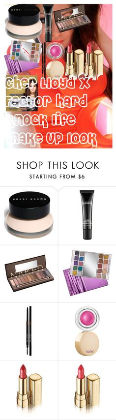 """Cher Lloyd X Factor hard knock life make up look"" by oroartye-1 on Polyvore featuring beauty, Bobbi Brown Cosmetics, MAC Cosmetics, Urban Decay, tarte, Dolce&Gabbana and eylure"