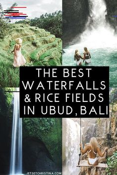 The Best Waterfalls & Rice Fields to Explore outside of Ubud, Bali. via travel guide travel The Best Bali Day Trip: Waterfalls and Rice Terraces in Ubud - JetsetChristina Ubud, Bali Waterfalls, Beautiful Waterfalls, Bali Travel Guide, Asia Travel, Travel Tips, Travel To Bali, Thailand Travel, Travel Plane