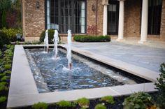 Modern Fountain and Bluestone Patio McCullough's Landscape & Nursery