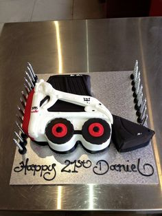Thats a Cake Cat Skid Steer Cakes Pinterest Cake Cat and