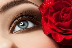 woman's eye with natural make-up